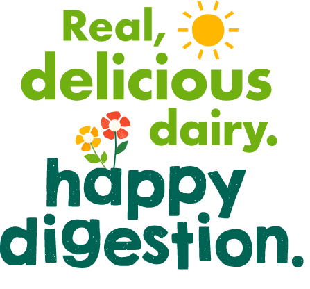 Real delicious dairy. Happy Digestion.